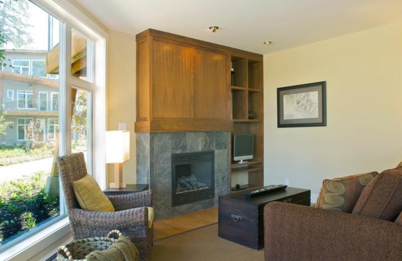 Guest living room at Cox Bay Beach Resort.