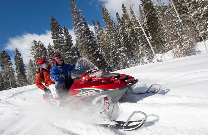 Snowmobiling at Patterson Kaye Resort.
