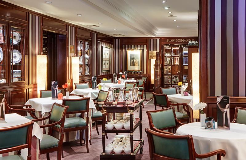 Dining at Gran Hotel Conde Duque.