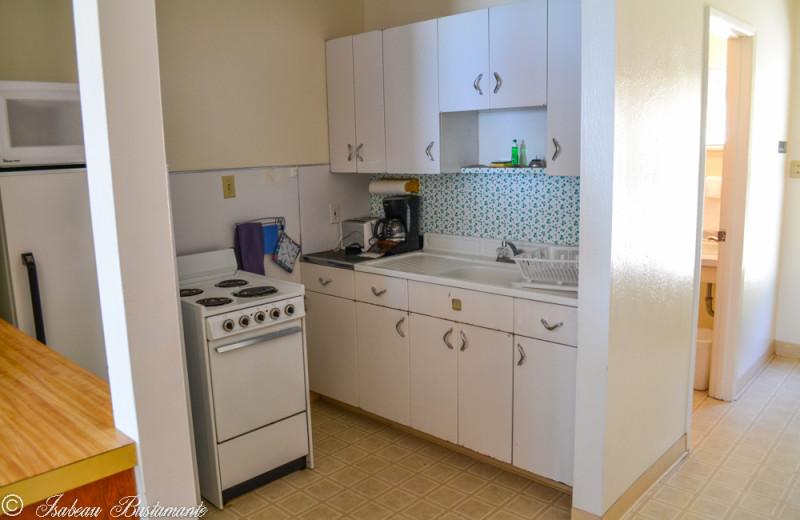 Cabin kitchen at Meeks Bay Resort & Marina.