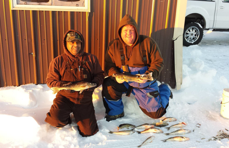 Ice fishing at Cyrus Resort.