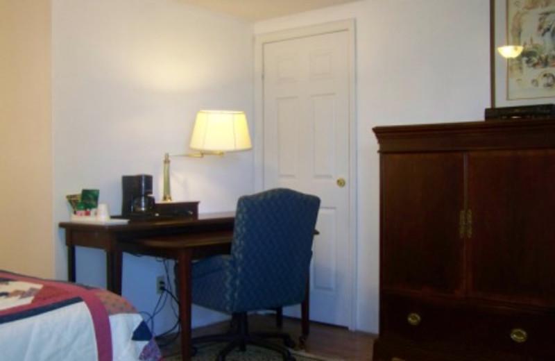 Guest Room Interior at Golden Knight Inn