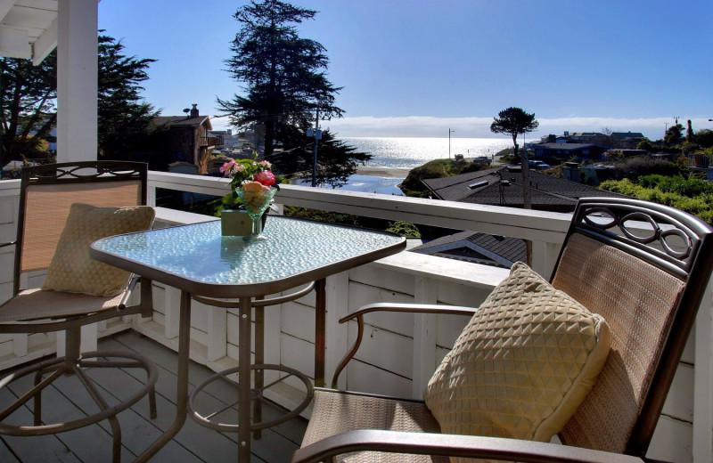 Balcony view at Ocean Echo Inn & Beach Cottages.
