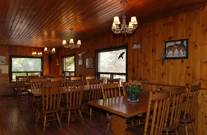 Lodge dining at Algonquin Eco-Lodge.