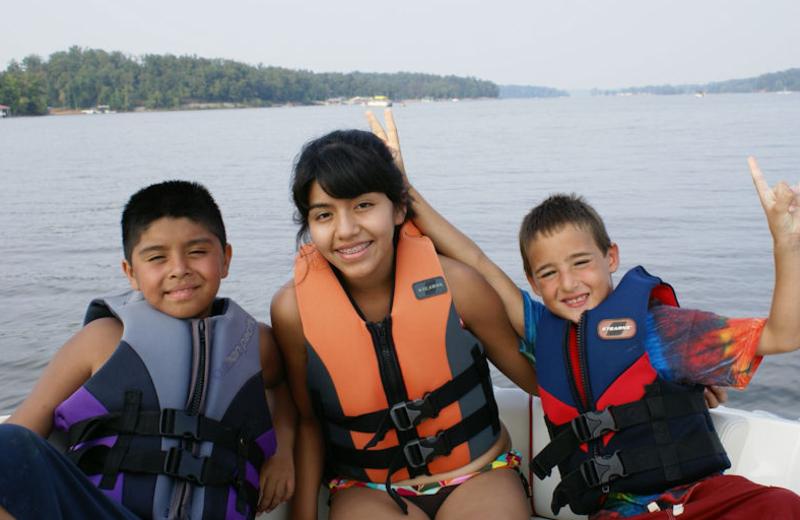 Boating at Malcolm Creek Resort & Marina.