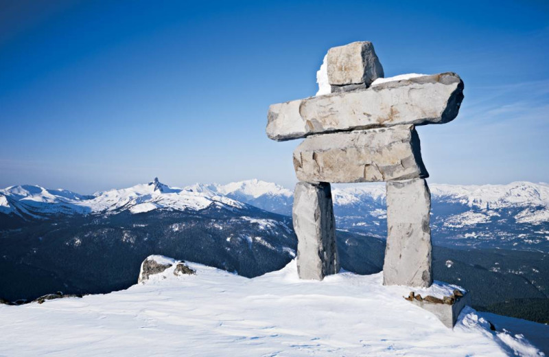 Inukshuk statue near Four Seasons Resort Whistler.