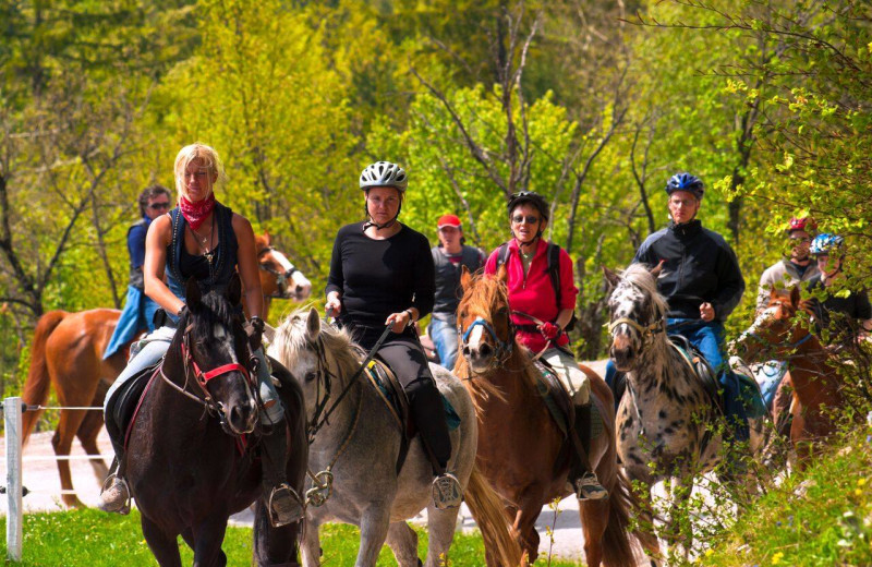 Horseback riding at The Lodge at Lane's End.