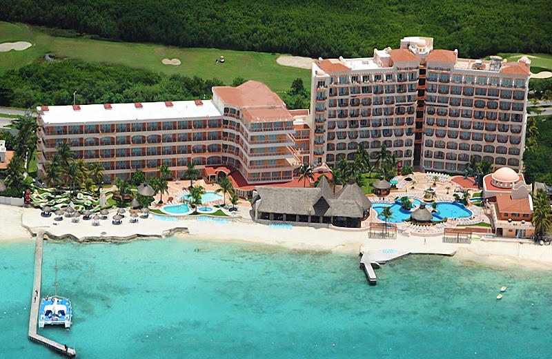 Aerial view of El Cozumeleno Beach Resort.