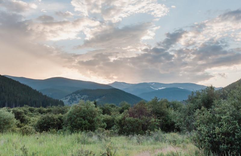 Mountains at Tumbling River Ranch.