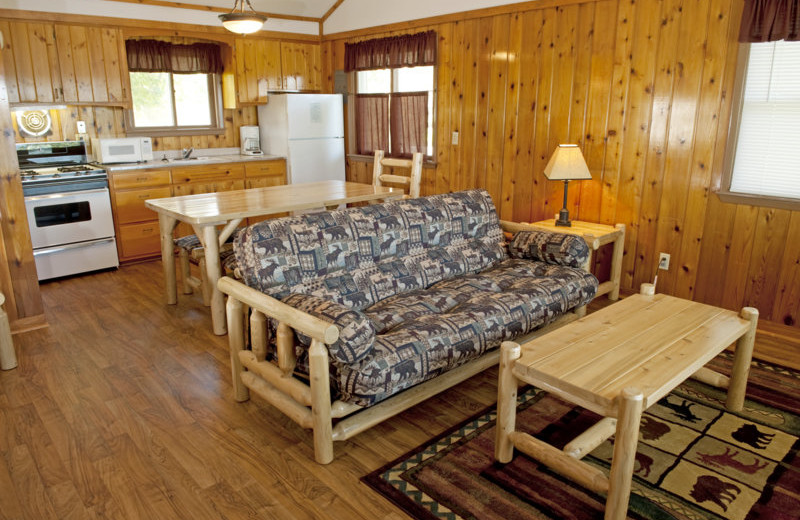 Cabin interior at East Silent Resort.
