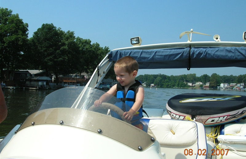 Boating at The Lighthouse Lodge.