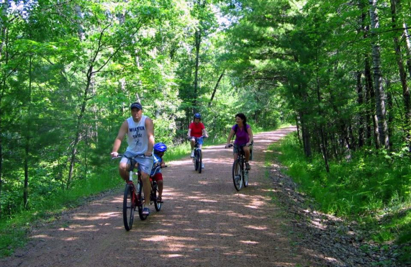 Biking at Nitschke's Northern Resort.