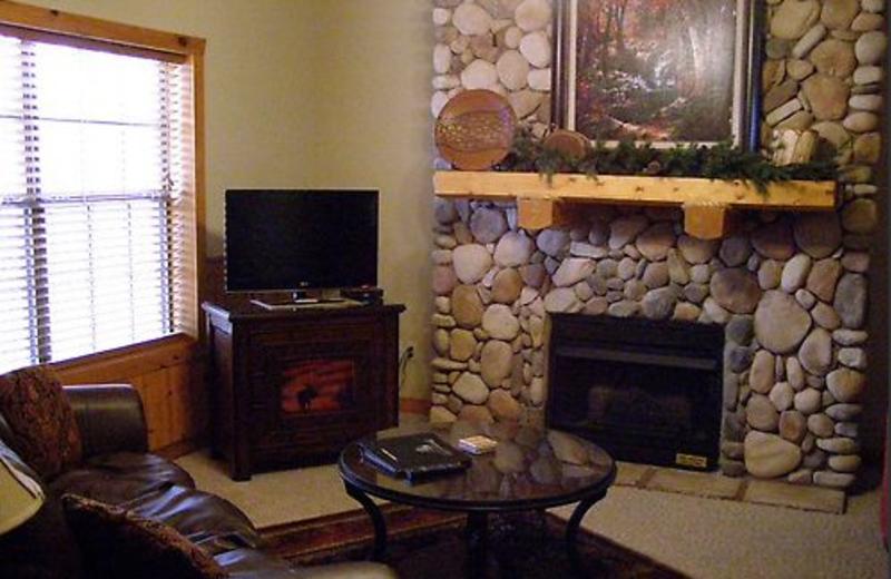 Fireplace at Thousand Hills Golf Resort.