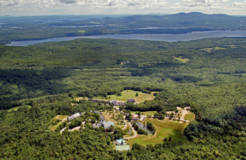 Aerial view of Steele Hill Resorts.