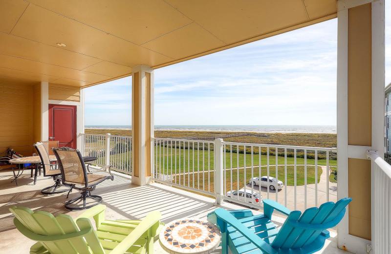 Rental deck at Pointe West Properties.