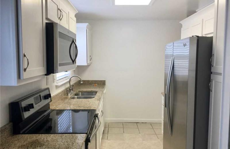 Rental kitchen at Gulf Shores Rentals.