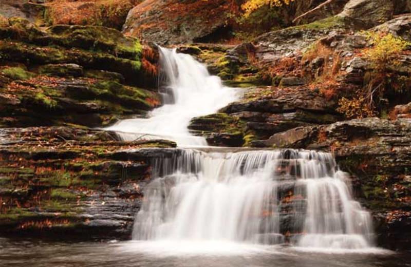 Waterfall at Wyndham Vacation Resorts Shawnee Village.