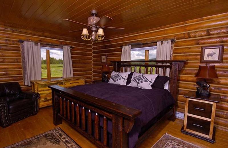 Guest room at Bar N Ranch.