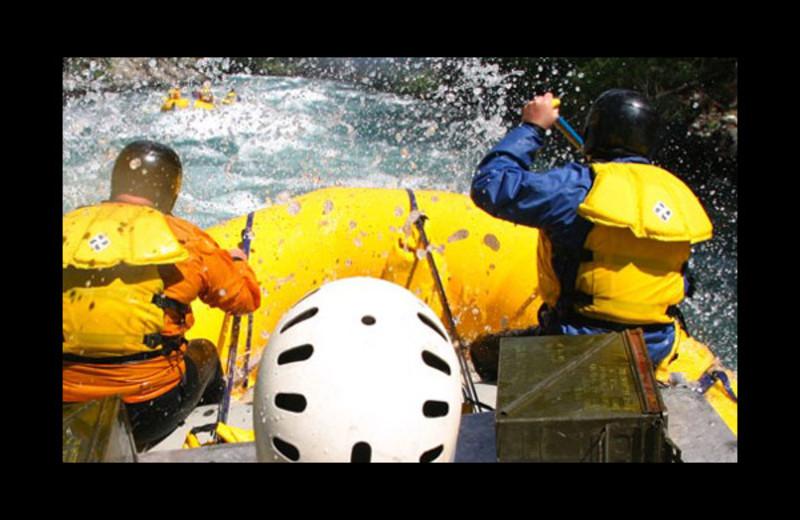 River rafting at The Lodge at Chilko Lake.
