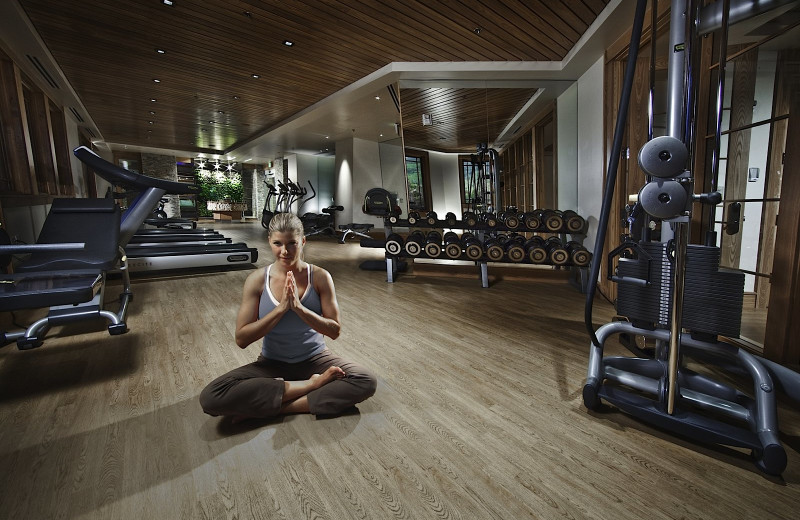 Fitness room at Dakota Mountain Lodge & Golden Door Spa.