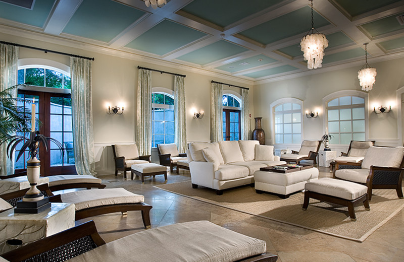 Spa lounge at North Beach Plantation.