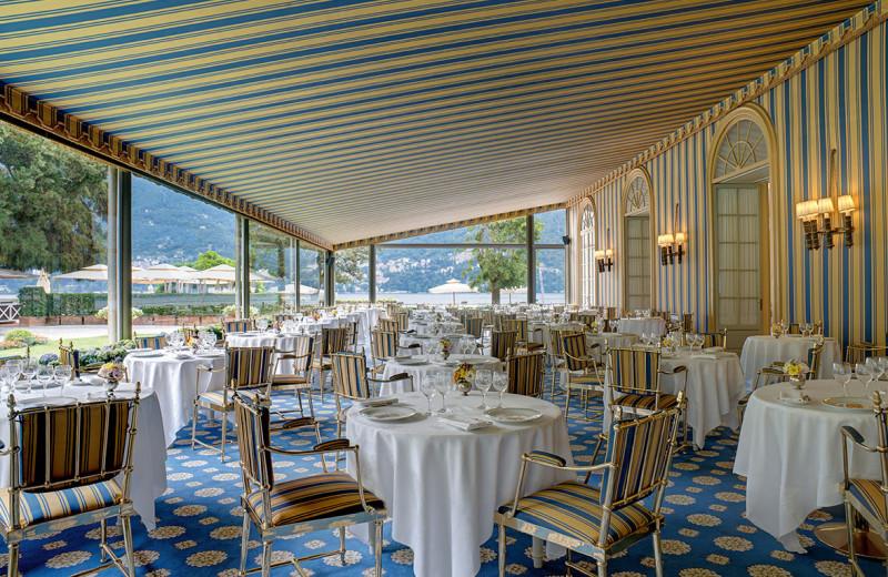Dining at Villa d'Este.