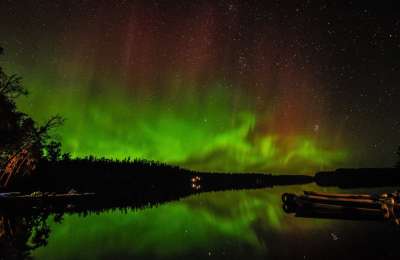 Aurora at Clearwater Historic Lodge & Canoe Outfitters.