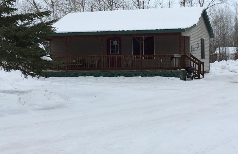 Cabin exterior at Linder's HideAway Cabins.