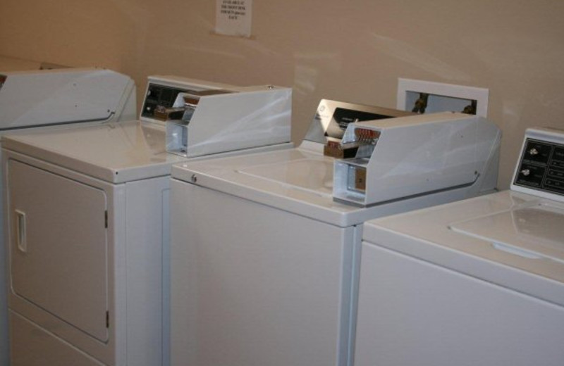 Laundry facilities at Birchwood Lodge.