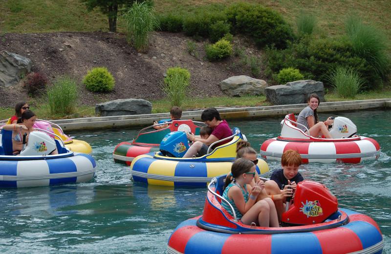 Water park at Woodloch Resort.