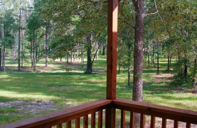 Deck view at Remember When Cabins.