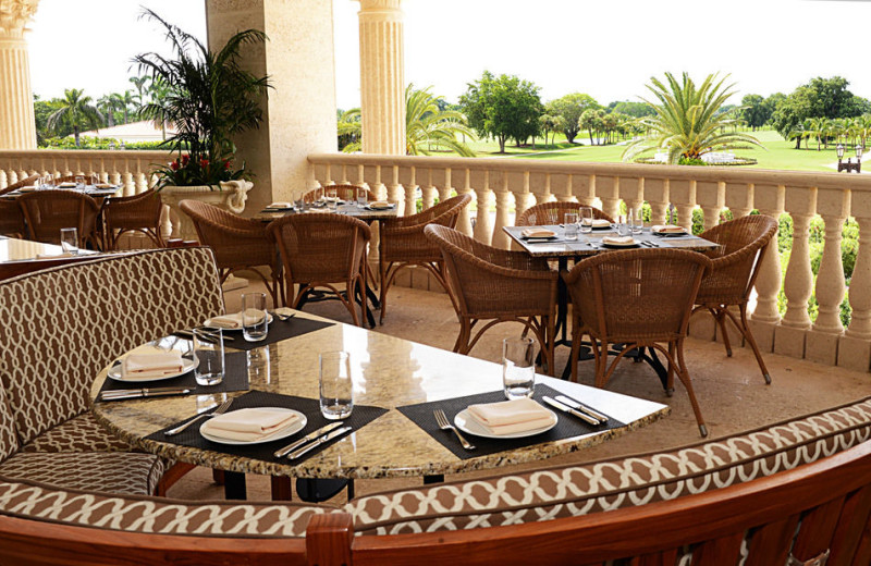 Patio at Trump National Doral Miami.
