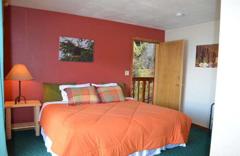 Guest room at Elfin Cove Resort.