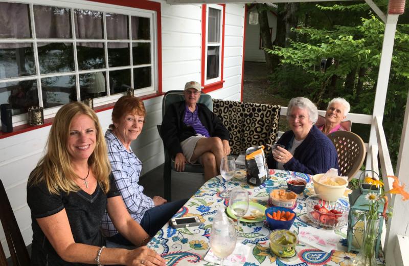 Family at Peck's Lake Resort.