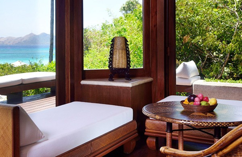 Guest room at Amanpulo Resort.