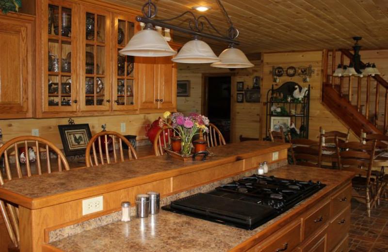 Kitchen at Saddleback Lodge.