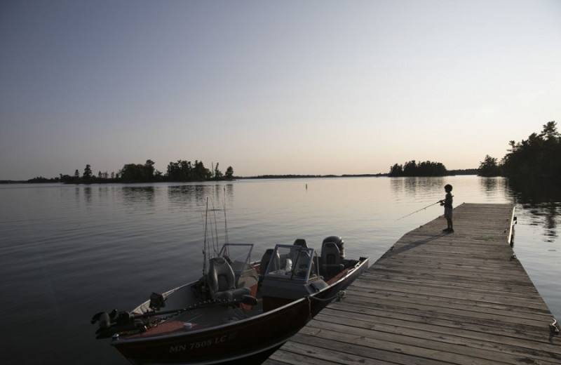Fishing at Voyageur Park Lodge.