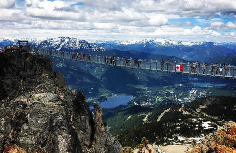 Sky walk at Whistler Breaks.