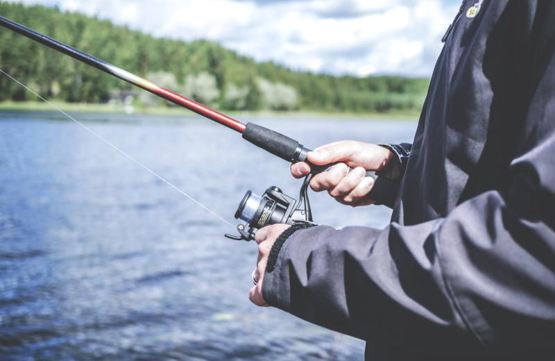 Fishing at Skyport Lodge.