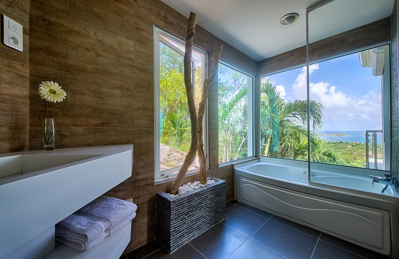 Villa bathroom at Island Properties Luxury Rentals.