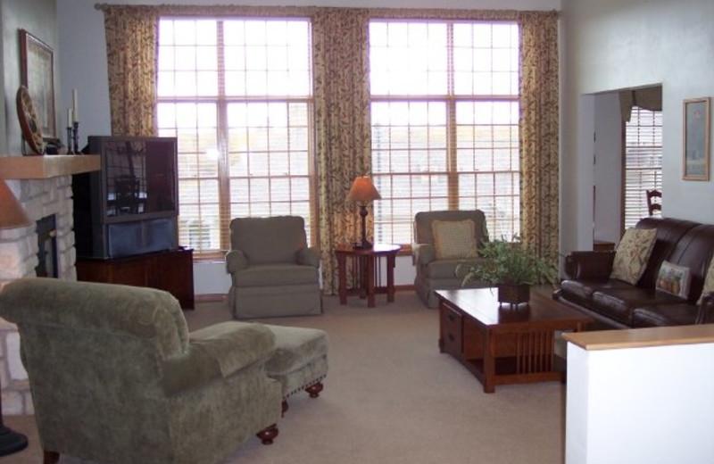Living Room Area of Suite at Meadow Ridge Resort