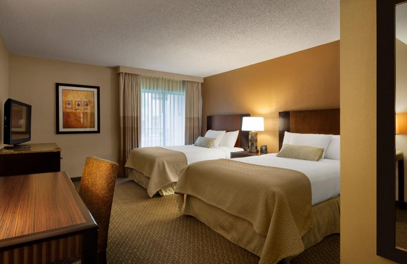 Guest room at Embassy Suites Phoenix - Tempe.
