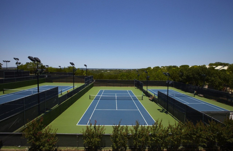 Tennis court at Lakeway Resort and Spa.