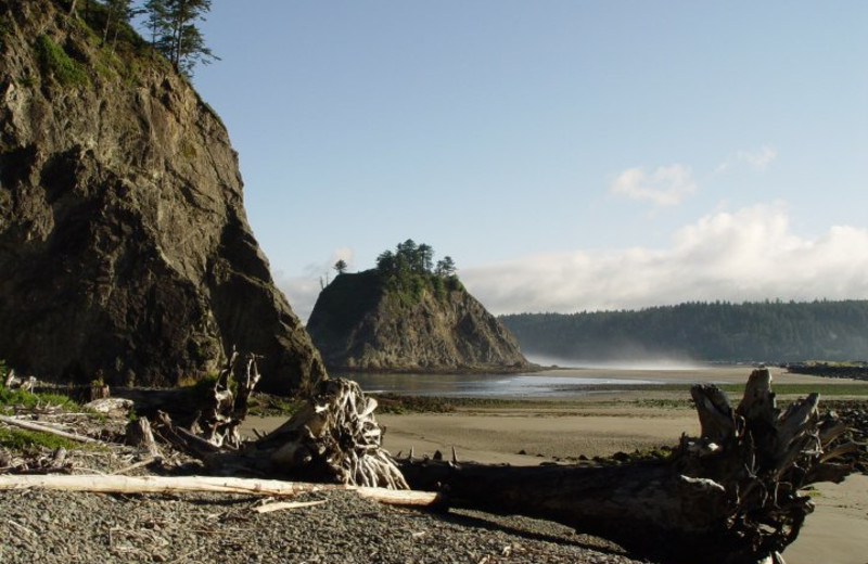 Beach at Quileute Oceanside Resort.