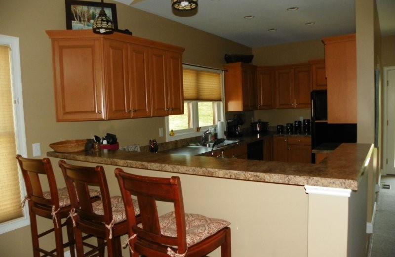 Rental kitchen at All Mountain Rentals.