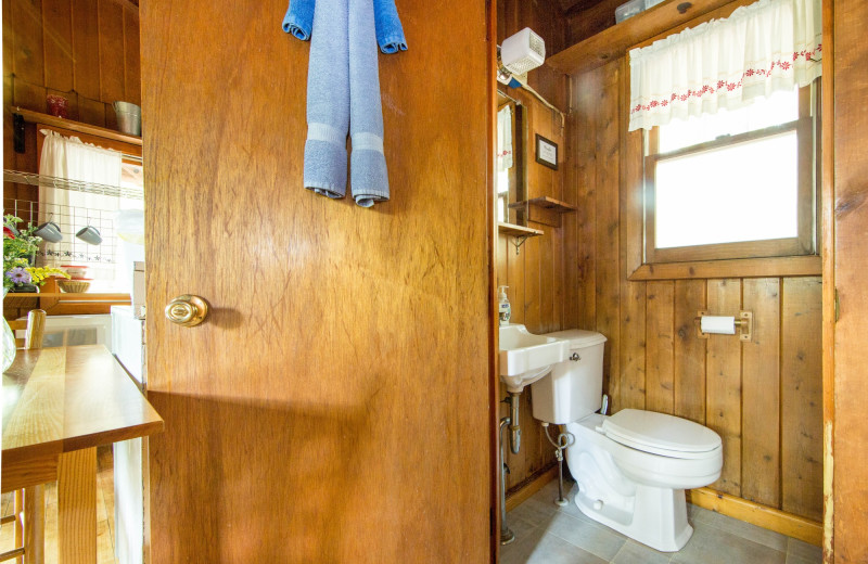 Cabin bathroom at Montfair Resort Farm.