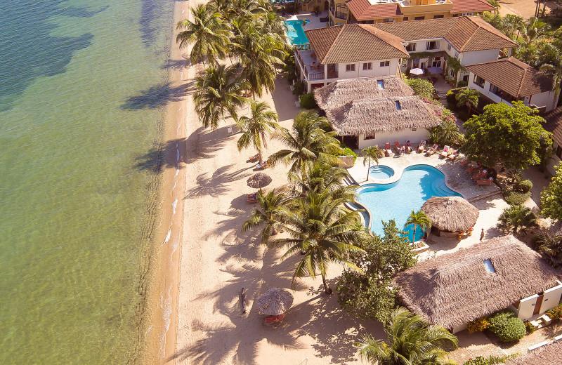 Aerial view of Almond Beach Resort.