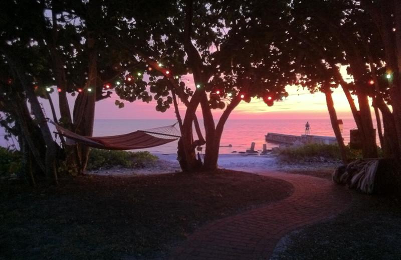 Hammock and sunset at Sunset Beach Resort.