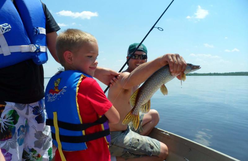 Fishing at Mission Springs Resort.