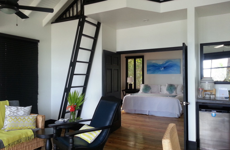 Guest room at Utopia Village.